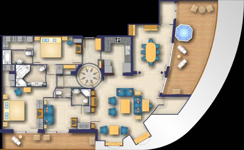 Color plans for Apartment marketing plans